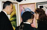 L'artista Anna Maria Guarnieri con l'Assessore Eugenio Giani
