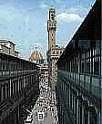 La galleria degli Uffuzi a Firenze